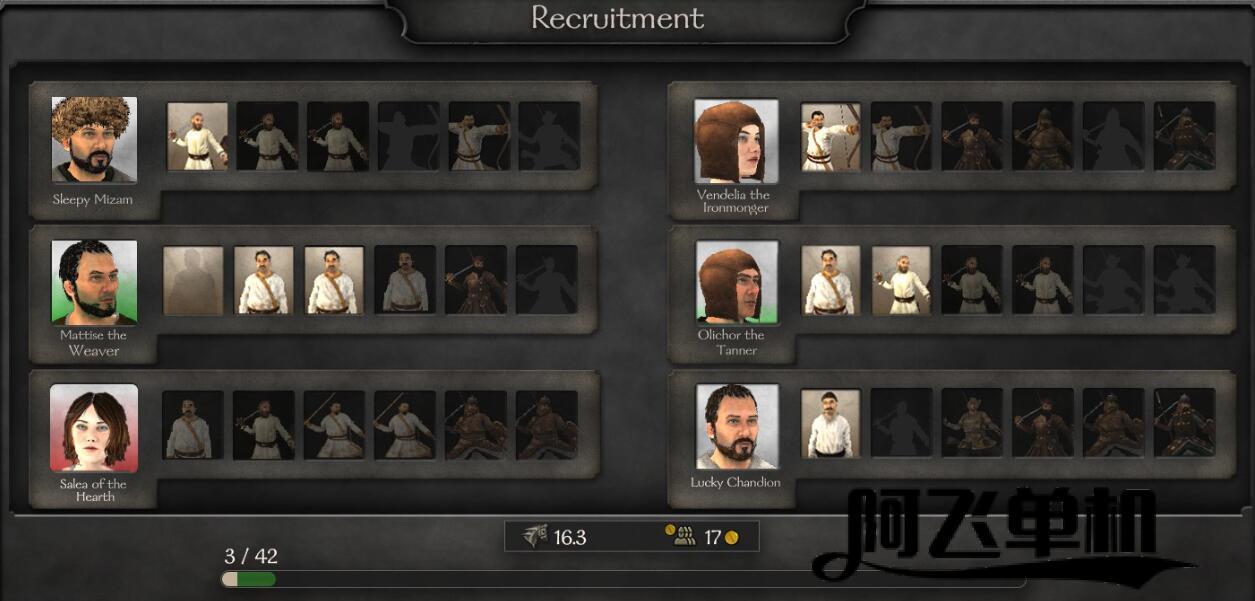 《骑马与砍杀2霸主》军队组建与征兵系统简介