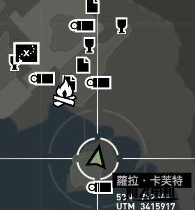 """《古墓丽影9》峭壁碉堡""""岛上先民""""旗子位置"""