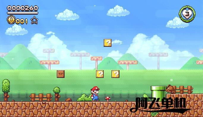 马力欧同人作品《Super Mario Flashback》