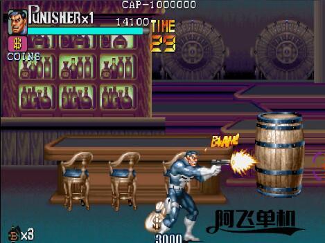 街机HACAK《惩罚者有枪版+原版》带中文模拟器