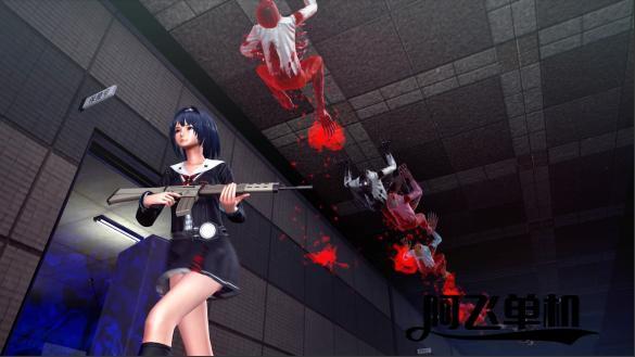 动作射击《校园女生僵尸猎人》