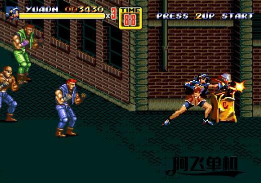 MD HACK《怒之铁拳2雅典娜不知火舞版》带中文模拟器