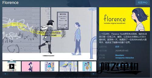 恋爱冒险《Florence》情人节发售 登陆PC和NS平台
